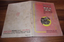 INSTRUCTIONS -- DUCATI Motorcycle 5 Speeds 750 GT 2 Cylinders Single Shaft 197