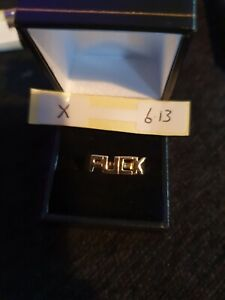 9ct Yellow Gold Word Ring 6g size X