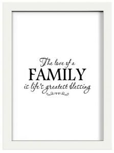 Family Quote Home Wall Decor Print Available In A4 Or A5