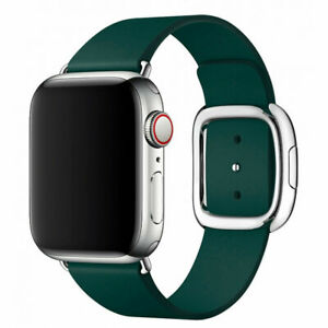 Genuine Apple Watch Modern Buckle Band - Forest Green - 40mm / Large