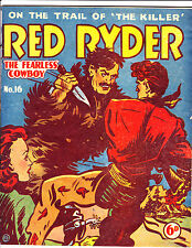 "Red Ryder No 16 1950's  Australian-""Knife Fight Cover!  """