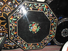 3'x3' MARBLE DINING COFFEE SIDE CORNER PUB SIDE TABLE TOP MALACHITE INLAY