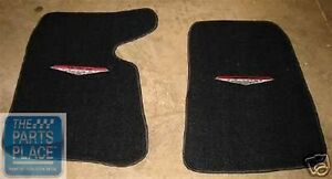 1964-65 Pontiac GTO LeMans Embroidered Black Carpeted Floor Mats