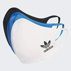 Adidas Multi 3-Pack Soft 2 Layer Machine Washable Face Masks Covers NEW!