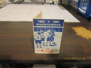 IHL Port Huron Flags Vintage Defunct 1980-1981 Team Logo Pocket Schedule