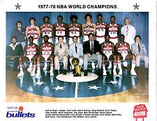 1977 1978 NBA CHAMPIONS WASHINGTON BULLETS 8X10 TEAM PHOTO BASKETBALL NBA