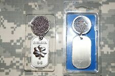 Key Chain US Air Force LT Colonel O-5 Rank Dog Tag w/ Chain Necklace