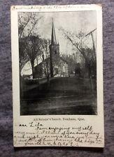 All SAINTS CHURCH  DUNHAM QUEBEC CANADA POSTCARD 1900s #L645