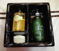 *Black Glossy* Ceramic Shampoo-Soap Dish...Full Recessed Shower-Shelf-Niche-Tray