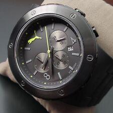 PUMA Armbanduhren aus Edelstahl mit Datumsanzeige und mattem Finish
