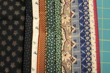 "12 CIVIL WAR REPRODUCTION QUILT FABRIC FAT QUARTERS (18 X 22"") BY MARCUS/MORE"