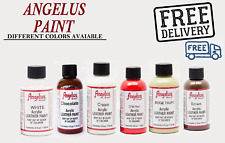 Angelus Acrylic Leather Paint for Sneakers, Shoes, Bags -various Colours 4oz