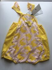 Stella McCartney Kids Sandy Romper Pink/yellow 12M New From Bel Bambini