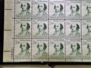 US# 1279 1 1/4c Gallatin llpos#28931 VF-XF Sheet of 100 Nicet! FV=$1.25
