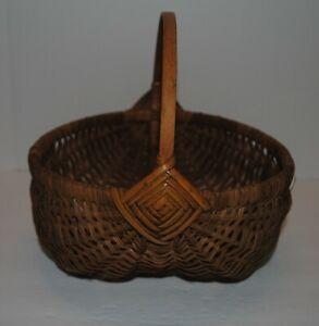 Vintage/Antique Handmade Buttocks Basket
