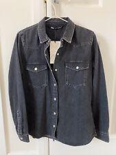 Zara Black Denim Shirt Size Small BNWT