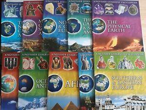 Kingfisher Geography Encyclopedia Set of 10 Paperback Books KS 3 / 4