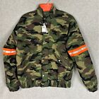 GUESS Men's LS Carter Traditional Camouflage Gemstone Reflective Jacket Size L