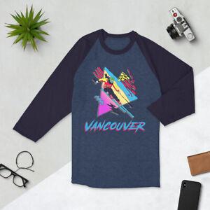 Skiing Shirt, Ski Vancouver, Vintage Shirt, Whistler,  3/4 sleeve raglan shirt