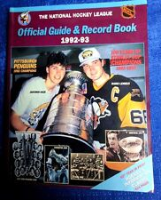 NHL OFFICIAL GUIDE AND RECORD  BOOK  1992/93 MARIO LEMIEUX JAROMIR JAGR