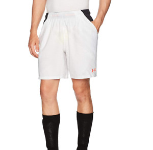 UNDER ARMOUR Mens White & Black Challenger II Woven Shorts Small BNWT