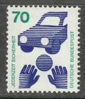 Germany 1973 MNH Mi 773 Ra Sc 1082 Accident prevention.Car.Control number **