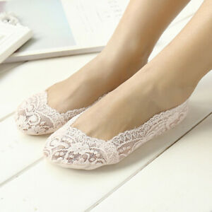 Women Anti-Skid Cotton Lace Low Cut Boat Socks Soft No-show Invisible Socks sIZE