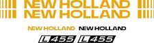 NEW HOLLAND L455 skid steer L 455 Replacement DECAL / sticker kit made in USA