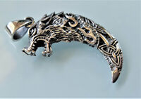 Wolf Fang STERLING SILVER 925 Pendant Wolf Claw Celtic Knot Viking Wolf Talisman