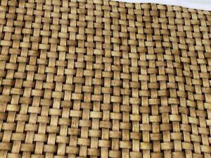 Fabric Basket Weave Tan Rattan Cotton QT 1/4 Yard 7423-A