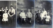 Lot Of 3 Antique Original Postcards - 'Family', (RP)