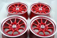 15 red Wheels Prius C Civic Accord Integra Cooper Forenza Ion 4x100 4x114.3 Rims