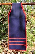 Breech cloth - Breech clout, Navy Blue w/ Red,  Native American Regalia, Pow Wow