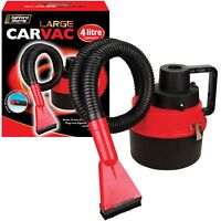 4L Full Set 12V Car Caravan Boat Portable Large Plug In Vaccum Cleaner Hoover