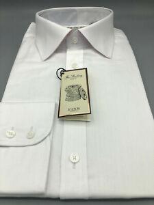 Thomas Pink, White Herringbone Shirt, UK:17 L, EU:43 L, BNWT, RRP:£115!