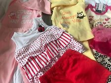 53) Lot of 11 New Infant 6/9 Months Baby Girl Clothing Pants Outfits Bee Sparkle