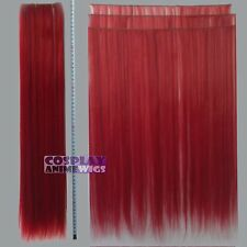 Dark Red Hair Weft Extention (3 pieces) - 60cm High Temp - Cosplay 7_DDR