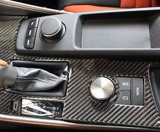 Real Carbon Fiber Gear Shift Panel Cover Trim 1pcs For Lexus IS 2014 2015 2016
