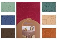 Tischdecke Stoff Damast Pflegeleicht Bügelfrei Ornamente Teil 1, Eckig Rund