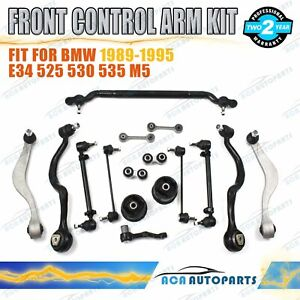 Fit BMW E34 5 Series 1989-1995 Front Suspension Kit Control Arm Ball Joint