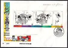 """Bund Block 63 FDC Ersttagsbrief Jugend 2003 """" Vater- und - Sohn  -Geschichten """""""
