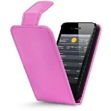 PINK Plain Flip Case Cover with Card Slots and clip for Apple iPhone 4/4S UK