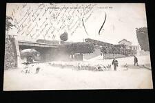 CHELLES GARE DE DEPART ET PONT DU CHEMIN DE FER 1902
