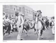 """*Postcard-""""Parade"""" (Passing in front of L.C. Burr Dept. Store) Temple, Tx (#65)"""