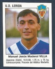 PANINI FUTBOL 93-94 SPANISH -#406-U.D.LERIDA-MANUEL JESUS MADERAL VILLA