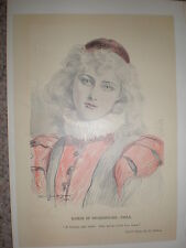 Mujeres de Shakespeare viola Arthur Jule Goodman 1897 Impresión de Color Antiguo