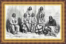 Antique print Arapaho Cheyenne Indian Denver Colorado native american