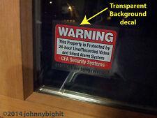 8 Security Alarm DECALS - Property, Home, Office, garage Window/Door ALL WEATHER