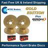 Golf GTi mk5 04-08 MTEC Gold Edition Front Rear Drilled Brake Discs Mintex Pads