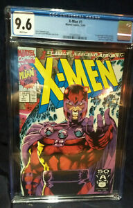 X-men 1  CGC 9.6 NM+  WHITE PAGES  NEW CASE